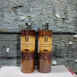 Bộ dầu gội xả Yogi care U argan oil phục hồi dưỡng ẩm 500ml
