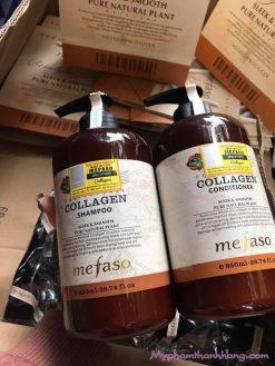 Bộ Dầu Gội Xả Collagen Mefaso 850ml×2
