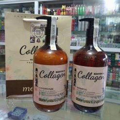 Bộ dầu gội xả chống rụng tóc Biotin collagen argan mefaso 800ml Ý