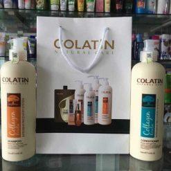 Dầu gội xả Colatin phục hồi dưỡng chất tơ tằm 1000ml x2