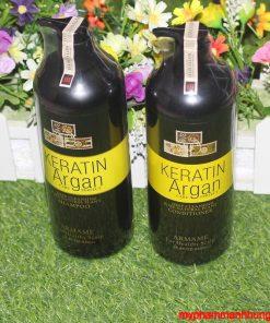 Bộ dầu gội xả Armame Keratin Argan cao cấp 850ml x2