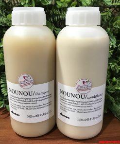 Bộ dầu gội xả Davines Nounou cho tóc khô hư tổn do uốn nhuộm 1000ml