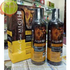 Cặp dầu gội xả MIGE Lightness Argan Oil 900ml x 2