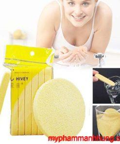 Bông nở rửa mặt Chivey hàng loại 1 gói 12 miếng