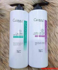 Bộ dầu gội và xả Ceorali Magicsil phục hồi giữ màu tóc nhuộm