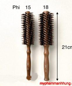 Lô sấy tóc VIL cán gỗ loại xoắn