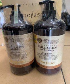 Bộ dầu gội xả Biotin & Collagen Mefaso 800ml x2
