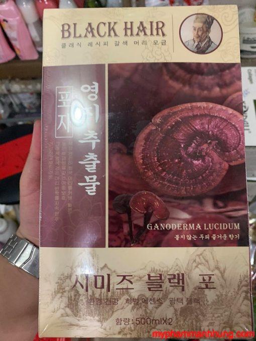 Thuốc Nhuộm Đen Thảo Dược Linh Chi Hàn Quốc 500ml x2