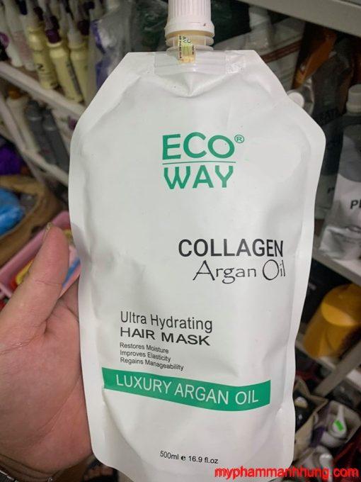 Dầu Hấp Ủ Tóc ECO WAY Collagen Argan Oil 500ml