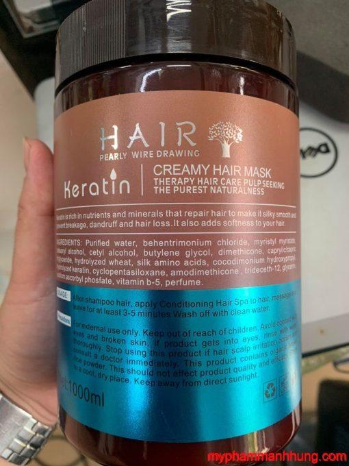 Kem Hấp Ủ Tóc Keratin Creamy Hair Mask 1000ml