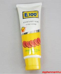 Sữa rửa mặt E100 nghệ hạt 100g