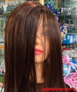 Đầu canh học cắt tóc 60cm 50% tóc thật