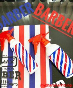 Bình xịt nước barber kẻ