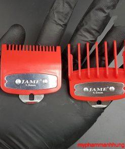 Bộ 2 cữ tông đơ gá thép 1.5mm - 4.5mm JAME đỏ