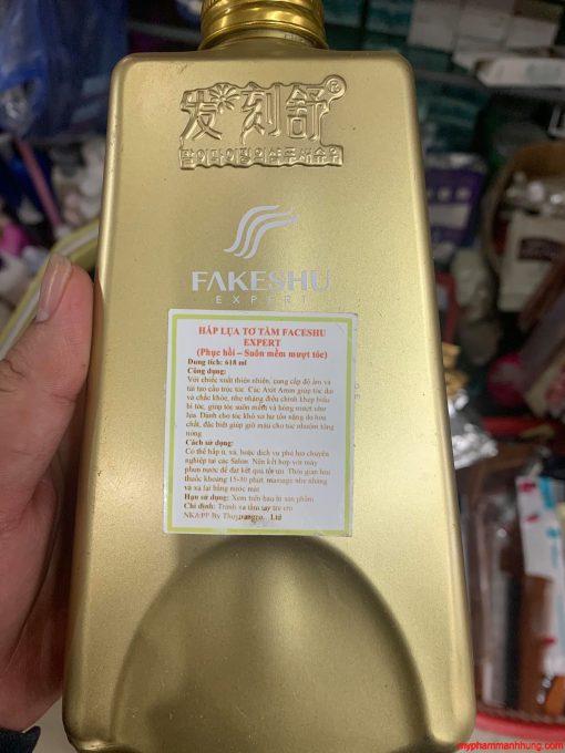 Hấp tóc lụa tơ tằm Kaasene / Faceshu 618ml vàng