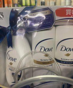 ComBo Set 3 dầu gội, dầu xả, sữa tắm Dove nội địa Nhật