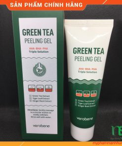 Gel tẩy tế bào chết VEROBENE GREEN TEA PEELING GEL Trà xanh