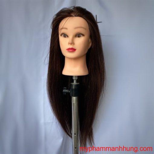 Đầu canh tóc thật AA 18