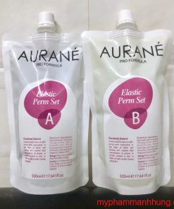 Cặp thuốc uốn lạnh Aurane Plastic Perm 500ml x2