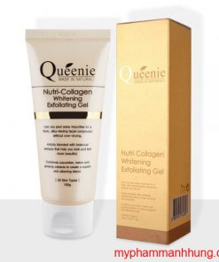 Gel tẩy tế bào chết Queenie Nutri Collagen Whitening Exfoliating của Hàn Quốc 100g