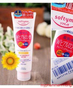 Sữa rửa mặt Kose Softymo Hyaluronic Acid hồng 220g