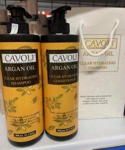 Bộ Dầu Gội Xả Cavoli Argan Oil Mềm Mượt 750ml x2