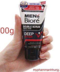 Sữa rửa mặt Men's Biore Deep Action tác động kép sạch sâu 100g