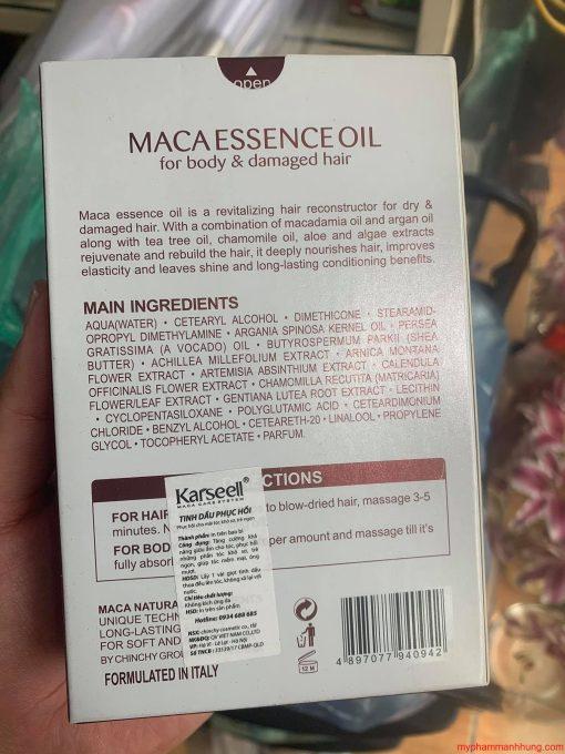 Tinh dầu dưỡng tóc phục hồi Karseell Maca Essence Oil 50ml