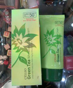 KEM CHỐNG NẮNG CELLIO GREEN TEA WHITENING SUN CREAM SPF50+ PA+++ 70G