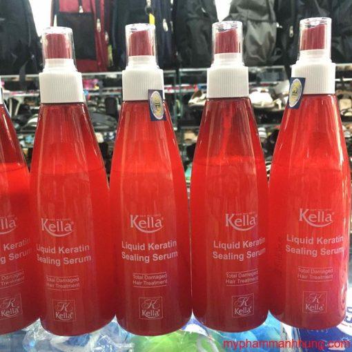 Xịt dưỡng tóc Keratin Kella Liquid Keratin Sealing Serum 250ml