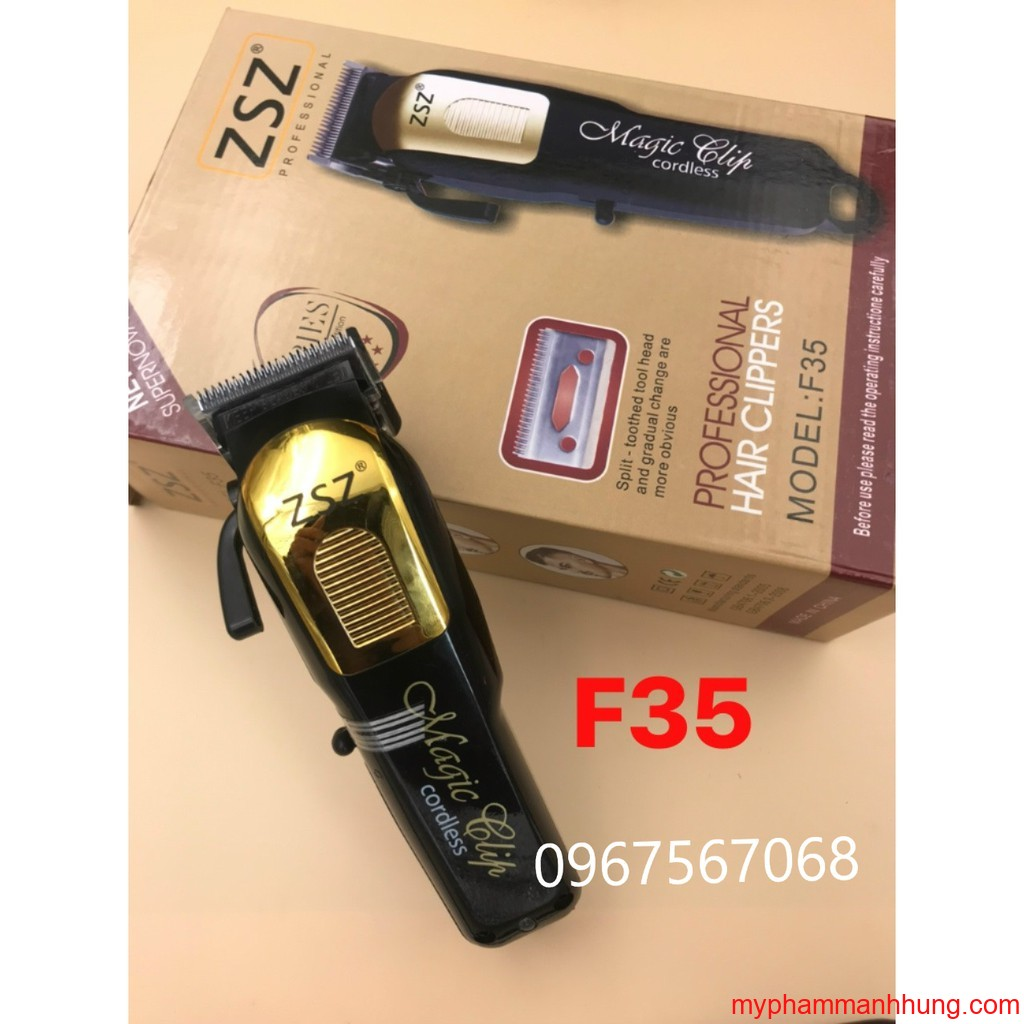 Tông đơ lưỡi kép ZSZ F35 chuyên fade - Mỹ Phẩm Tóc Hải Phòng - Mạnh Hùng